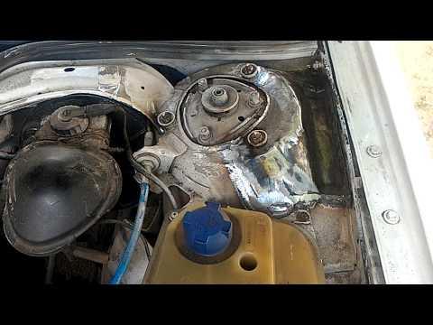 Быстрый ремонт переднего стакана Audi 100 C3