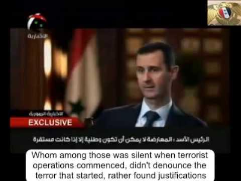 Syrian President Bashar al-Assad Interview with Ikhbariya (English Subtitles)
