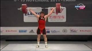 2011 Paris World Weightlifting Championships 94 Kg Snatch