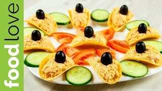 Сырная закуска на чипсах. Закуска на праздник | Закуски | FoodLove