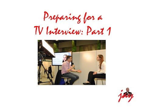 How to Run for Office: TV Interview Tips 1. The Format