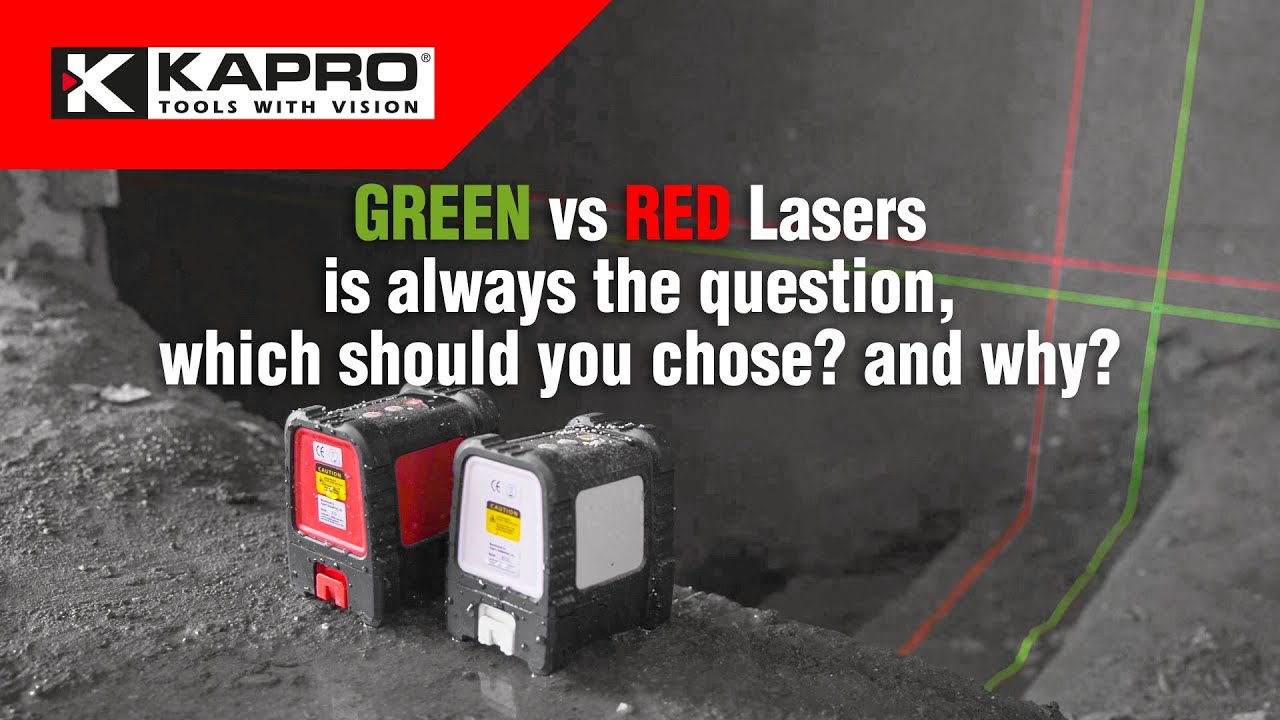 Green vs Red lasers
