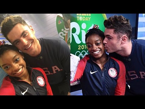 Simone Biles Gets Surprise Visit From Zac Efron In Rio