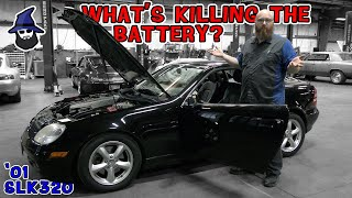 What's draining the battery on this '01 Mercedes SLK320? CAR WIZARD shows how to find power draws