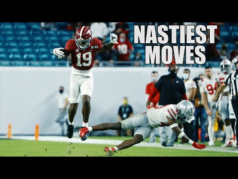 Nastiest Moves (Hurdles, Jukes, Spin Moves, & Stiff Arms) Of The 2020-21 College Football Season ᴴᴰ
