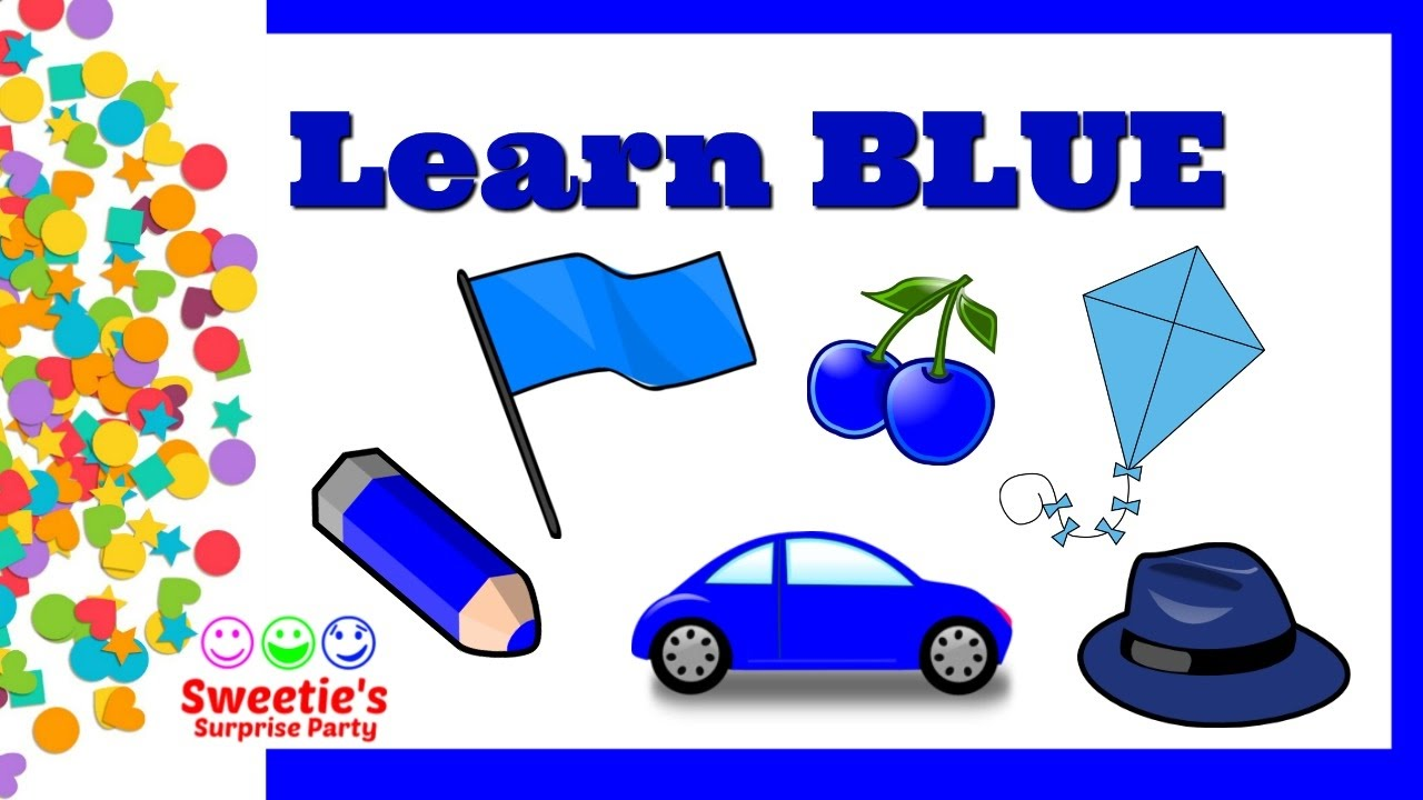 learn the color blue preschool and toddler learning learn english preschool toddlers - Color For Toddlers