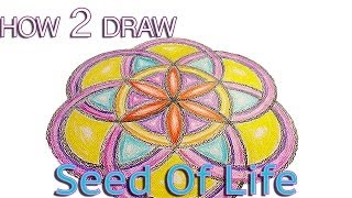 How to draw the Seed of Life pattern tutorial - Basic Sacred Geometry & Mandala Video Tutorial