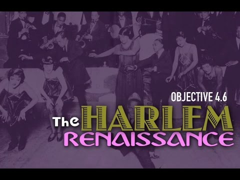 Objective 4.6- The Harlem Renaissance