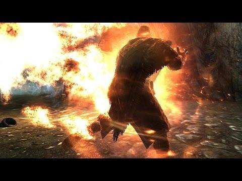 Skyrim Battles - Savos Aren vs Two Enthralled Wizzards [Legendary Settings]