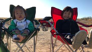 꼬마 순례자 - 미츠페 라몬 근처 광야에서 텐트를 치고…