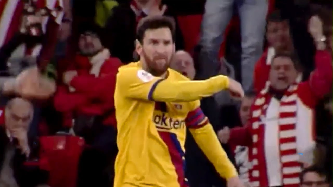 Download Lionel Messi gets angry at Ansu Fati during Athletic Bilbao vs Barcelona match