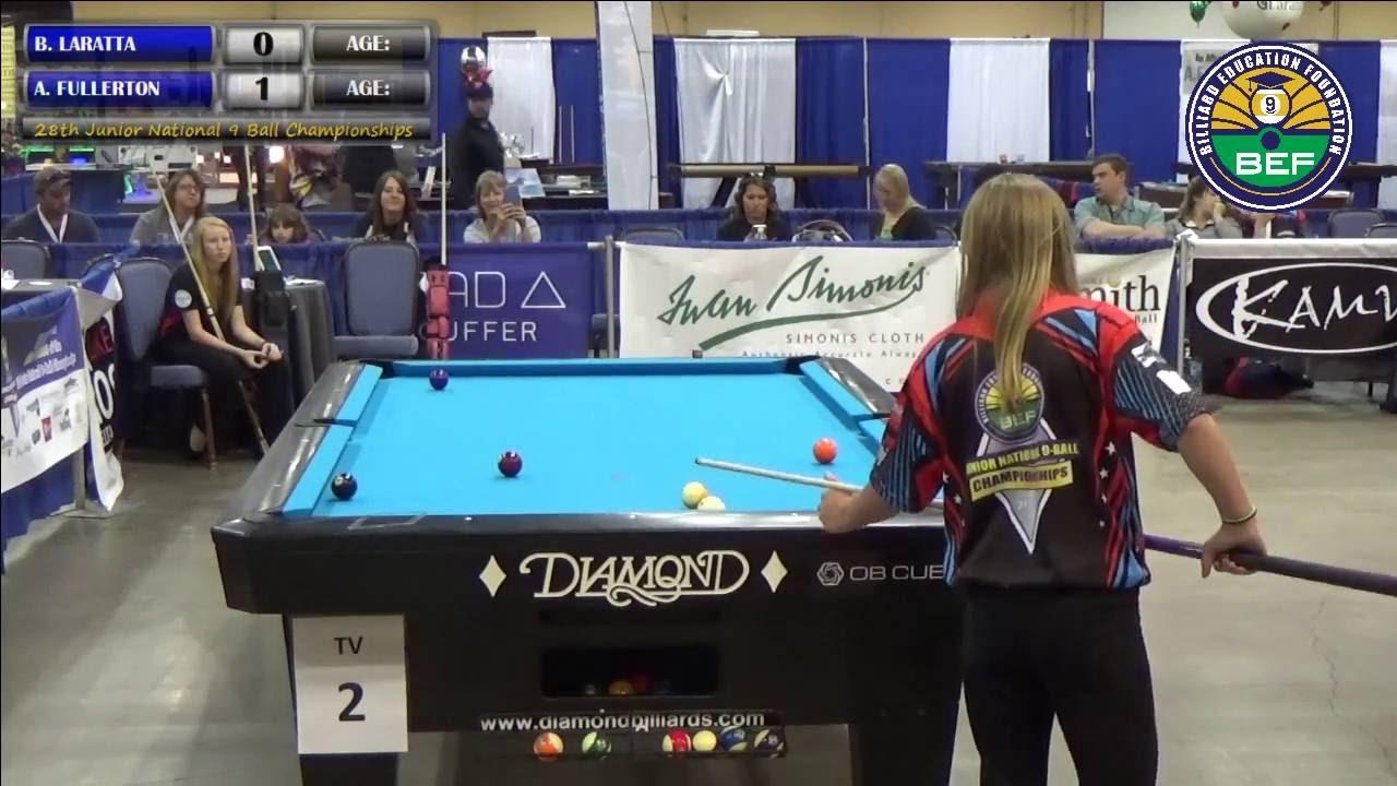 Ashley Fullerton Vs Brianna LaRatta YouTube - Fullerton pool table