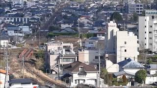 くま川鉄道(人吉温泉駅~相良藩願成寺)を望む