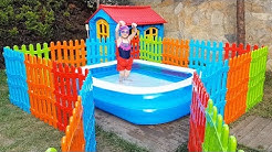 Öykü Yüzme Havuzunda - For Kid Swimming Pool Colored Fences - Funny Oyuncak Avı