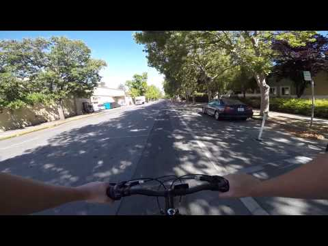 Bike ride from Palo Alto to Menlo Park