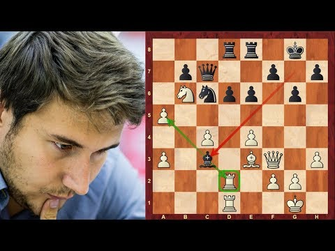 Amazing Chess Game: Sergey Karjakin vs Hikaru Nakamura : Tal Memorial (Blitz) (2018) : Sicilian