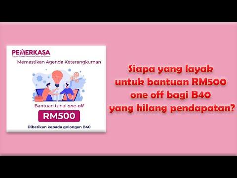 Siapa Yang Layak Untuk Bantuan RM500 One Off Bagi B40 Yang Hilang Pendapatan?