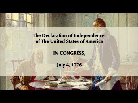 The Declaration of Independence of The United States of America July 4th 1776