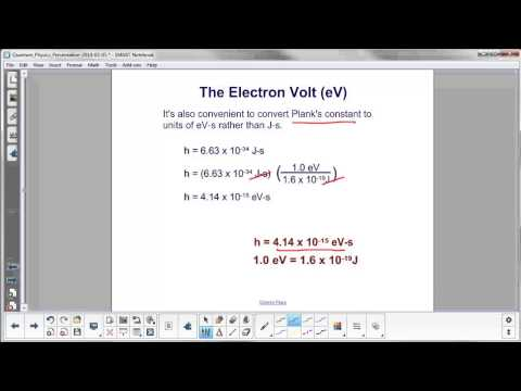 Quantum Physics - The Electron Volt