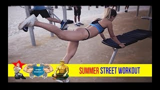 Summer Street Workout on Tel Aviv beach