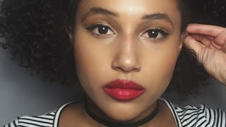 Classic Makeup Look | Winged Eyeliner & Red Lip