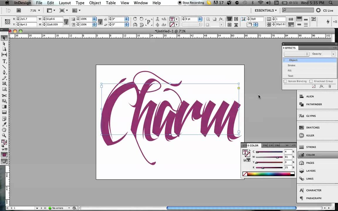 3d typography effect in indesign youtube