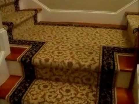 Custom Stair Runner Installation Pie Steps T Landing End Caps   Runners On Stairs With Landings   Roger Oates   French Tuck   Annie Selke   Before And After   Runners Up