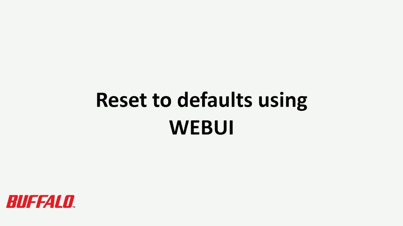 How-to: Initializing settings on a Buffalo LinkStation