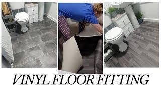 BUDGET BATHROOM FLOORING   DIY vinyl floor fitting   Silicone/ caulking meltdown!