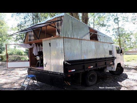 Tour Pela Camper 2017 - Sidnei e Jéssica, Caminhão Agrale 1600D, 1986,