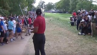 This Tiger Woods recovery at PGA Champ leads to crowd-rocking birdie