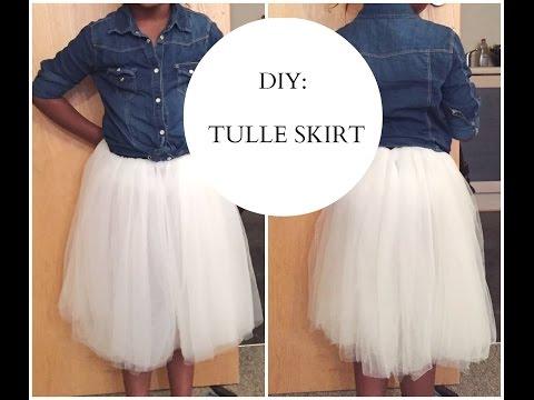 Diy Tulle Skirt Easy Sewing