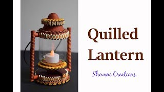 How to make Quilling Lantern/ Quilled Lampshade/ Miniature Quilling/ DIY Quiiling item