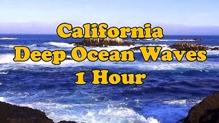 ASMR Nature Sounds ❤ Pacific Ocean Waves ❤ 1 Hour Binaural