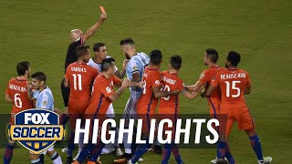 Chile and Argentina both get red cards in first half | 2016 Copa America Highlights