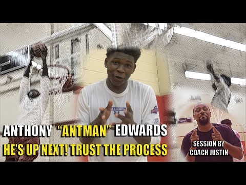 ANTMAN CHANNELS BLAKE GRIFFIN! THROWS DOWN A BANGER! Anthony Edwards Summer Workout