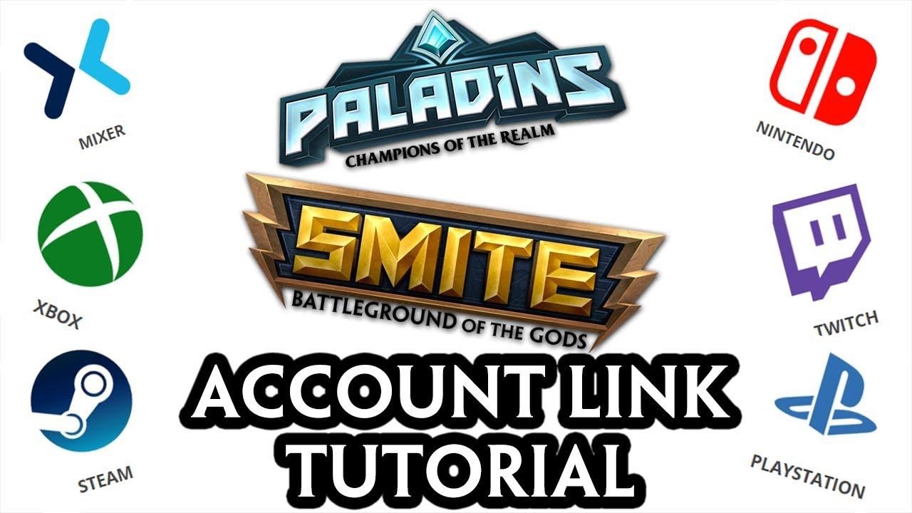 SMITE & PALADINS ACCOUNT LINK TUTORIAL | CROSS-PROGRESSION [Tutorial