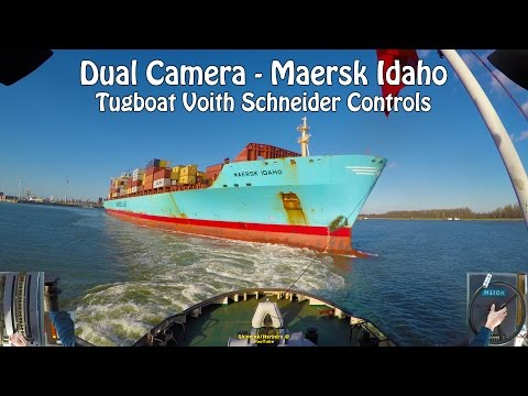 Tugboat Dual Camera #7 - Voith Schneider Controls - Maersk Idaho