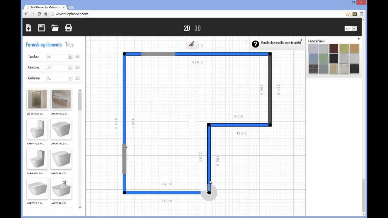 Tile planner layout design youtube for Tile floor layout tool