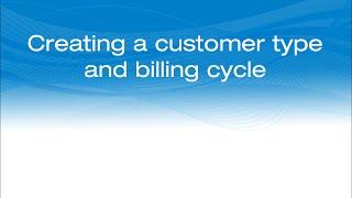 La création d'un type de client et le cycle de facturation