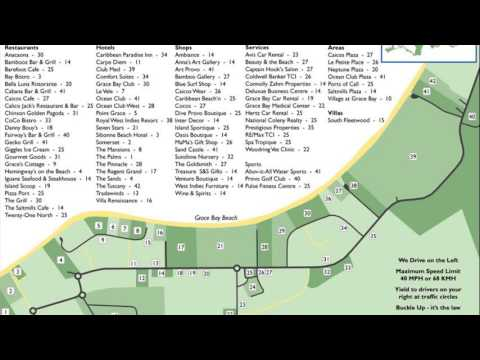 Grace Bay Beach Turks And Caicos Map