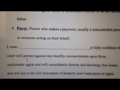 Child Support Demand for Dismissal Affidavit to File in Court
