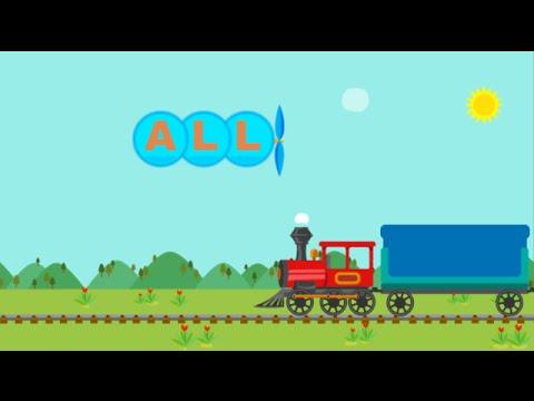 Sight Words Happy Train. Primer Level (words 1-10).