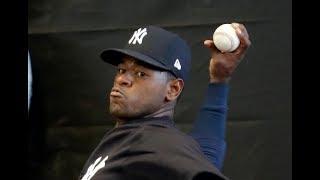 Yankees' Luis Severino bullpen close up