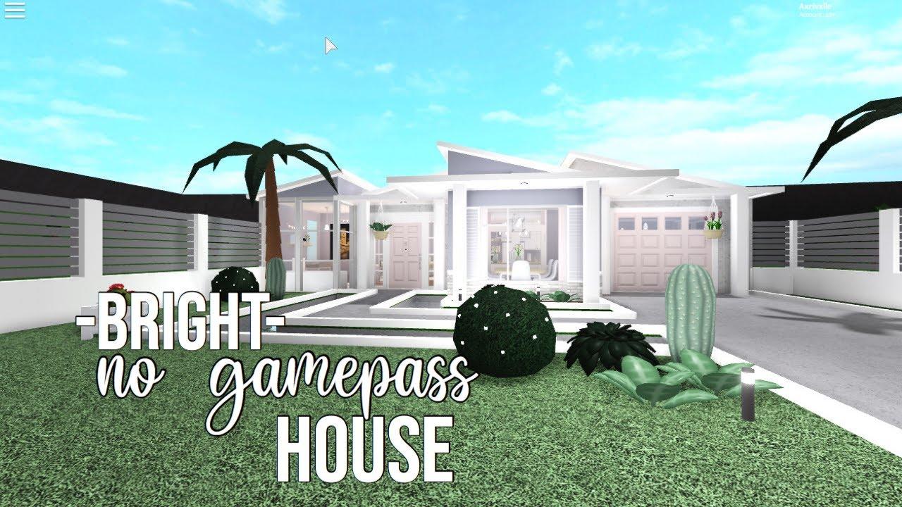 Roblox Bloxburg: 64k Bright No Gamepass House YouTube