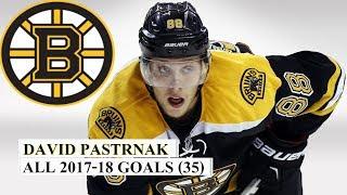 David Pastrnak (#88) All 35 Goals of the 2017-18 NHL Season