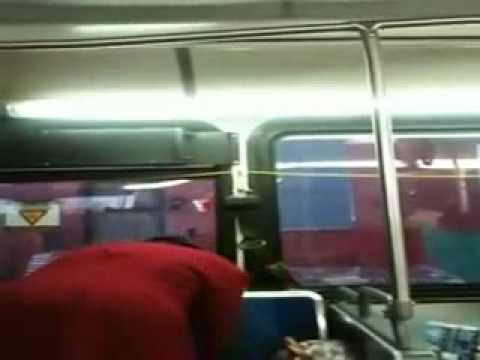 A LADY GOES CRAZY IN A Philadelphia PA BUS!!