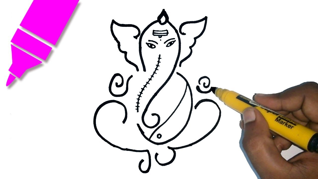 Learn how to draw Ganesha Drawing - Free Hand Drawing for kids ...