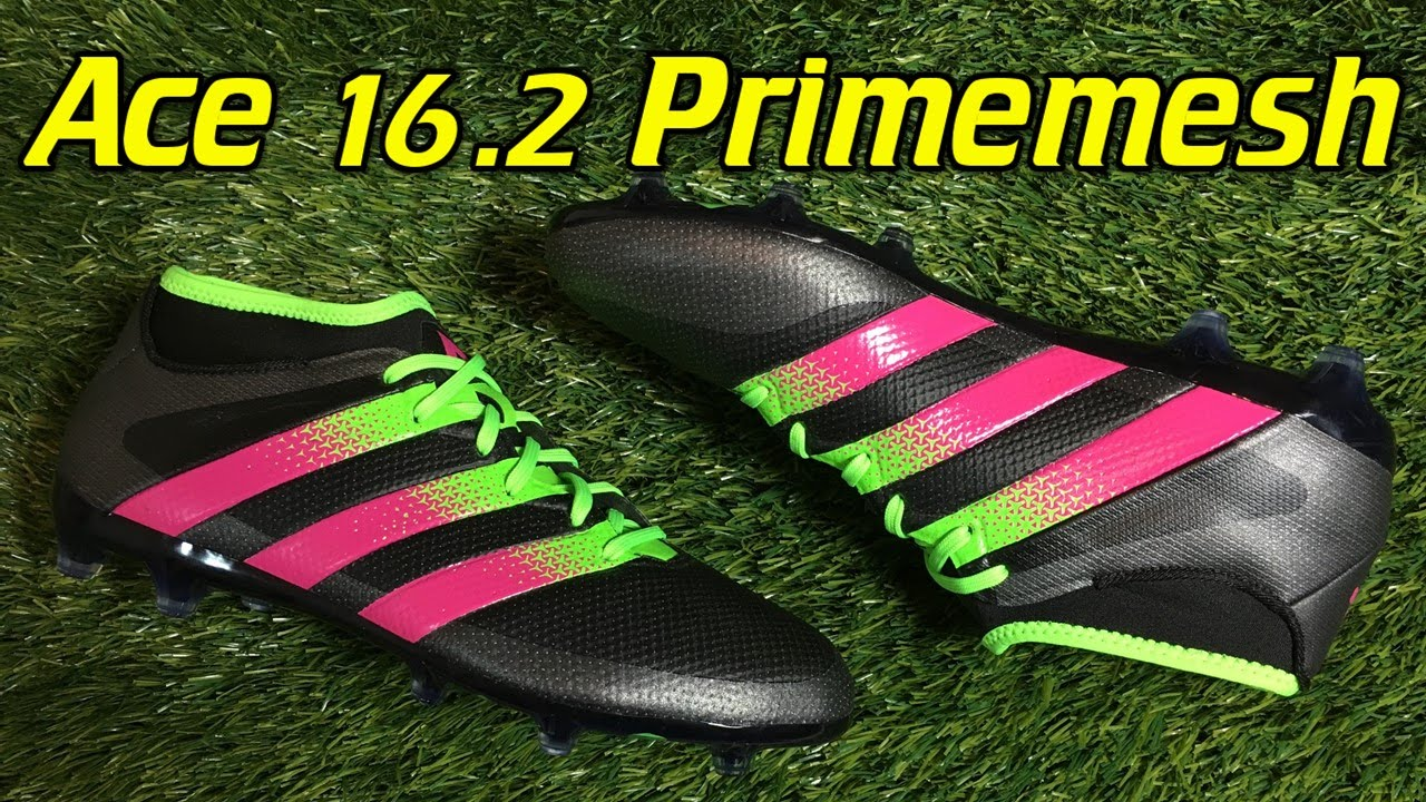 Adidas ACE 16.2 PrimeMesh Black Solar Green Shock Pink - Review + On Feet -  YouTube 4cec3515ce