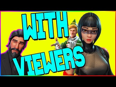 🔴FORTNITE with VIEWERS stream! Join in and play LIVE! user: youtube_nay2d2 !queue to join 70+ WINS